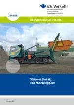 DGUV Information 214-016 - Sicherer Einsatz von Absetzkippern (bisher BGI 5004)