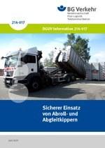 DGUV Information 214-017 - Sicherer Einsatz von Abroll- und Abgleitkippern