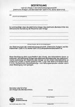 DGUV Grundsatz 303-004 - Bestätigungsvordruck Elektrische Anlagen und Betriebsmittel (bisher GUV-G 960)