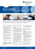 Faktenblatt Außendienst – Bereit zur Abfahrt?