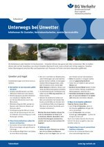 Faktenblatt Außendienst – Unterwegs bei Unwetter