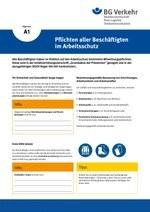 Unterweisungskarte A1: Pflichten aller Beschäftigten im Arbeitsschutz