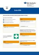 Unterweisungskarte A2: Erste Hilfe