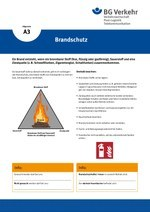 Unterweisungskarte A3: Brandschutz