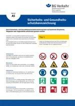Unterweisungskarte A5: Sicherheits- und Gesundheitsschutzkennzeichnung