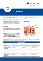 Unterweisungskarte A6: Hautschutz