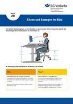 Unterweisungskarte A8: Sitzen und Bewegen im Büro
