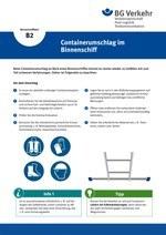 Unterweisungskarte B2: Containerumschlag im Binnenschiff