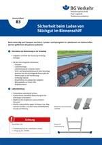 Unterweisungskarte B3: Sicherheit beim Laden von Stückgut im Binnenschiff