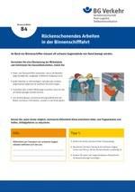 Unterweisungskarte B4: Rückenschonendes Arbeiten in der Binnenschifffahrt