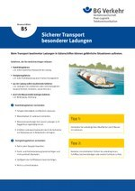 Unterweisungskarte B5: Sicherer Transport besonderer Ladungen