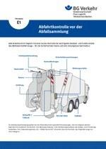 Unterweisungskarte E1: Abfahrtkontrolle bei der Abfallsammlung