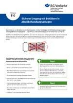 Unterweisungskarte E10: Sicherer Umgang mit Behältern in Abfallbehandlungsanlagen