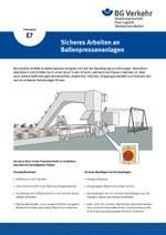 Unterweisungskarte E7: Sicheres Arbeiten an Ballenpressenanlagen
