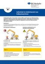 Unterweisungskarte M1: Aufenthalt im Gefahrbereich von Erdbaumaschinen