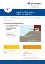 Unterweisungskarte M2: Aushub und Sicherung von Gräben und Baugruben