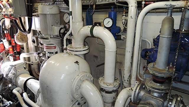 Maschinenraum Binnenschiff