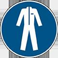 """Gebotszeichen """"Schutzkleidung benutzen"""""""