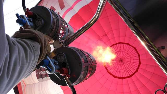 Brenner in einem Heißluftballon