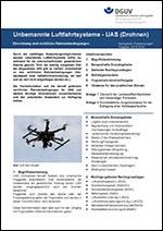 """Titelseite der Fachinformation """"Unbemannte Luftfahrtsysteme"""""""