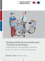 """Information """"Arbeitssicherheit und Gesundheitsschutz - Zustellen von Sendungen"""""""
