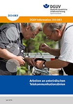 Titelseite DGUV Information 203-083