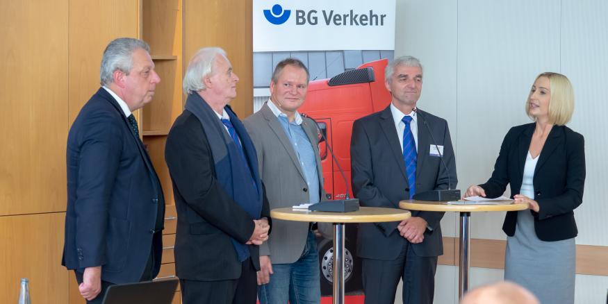 """Podiumsdiskussion auf der Branchenkonferenz """"Be- und Entladen - Gefährdungen und Lösungen"""""""