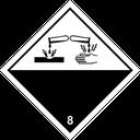 Gefahrzettel ätzende Stoffe