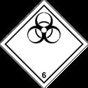Gefahrzettel ansteckungsgefährdende Stoffe