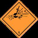 Gefahrzettel explosive Stoffe 1.1-1.3