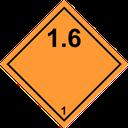 Gefahrzettel explosive Stoffe 1.3-1.6