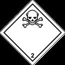 Gefahrzettel giftige Gase