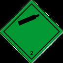 Gefahrzettel nichtentzündbare Gase
