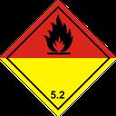 Gefahrzettel organische Peroxide