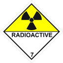 Gefahrzettel radioaktive Stoffe