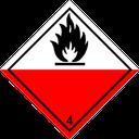 Gefahrzettel selbstentzündliche Stoffe