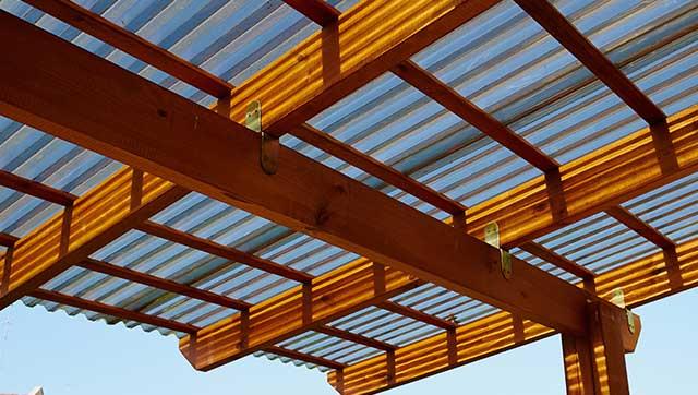 Dach auf Holzkonstruktion